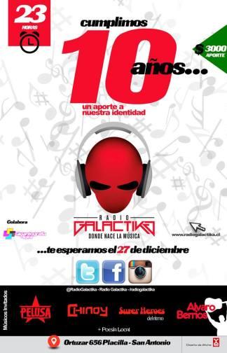 Logo de Cumpleaños 10 Radio Galactika